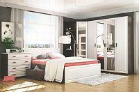 Ložnice PRAGA (postel 160 se zas., skříň 4D a komoda 4S), wenge/bílá
