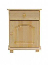 MAGNAT Noční stolek S5, masiv borovice, moření: ...