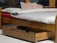 MAGNAT Úložný prostor pod postel 98 cm, masiv borovice/moření dub