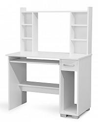 MATIS PC stůl s nástavcem DIONYS, bílá