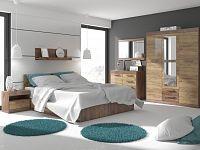MAXIM ložnice 12, craft tobaco/craft zlatý