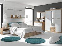MAXIM ložnice 12, craft zlatý/craft bílý