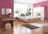 MAXIM ložnice 13, craft zlatý/craft bílý