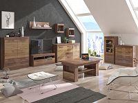 MAXIM obývací pokoj 6, craft tobaco/craft zlatý