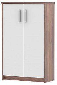 MB Domus skříňka JH033, švestka/bílá - š. 72,5 cm, v. 115,8 cm, hl. 33,8 cm