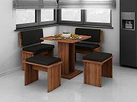MORAVIA FLAT BOND, jídelní set malý, švestka/barva ekokůže: ...