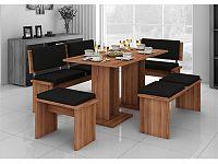 MORAVIA FLAT BOND, jídelní set velký, švestka/barva ekokůže: ...