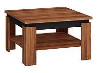 MORAVIA FLAT Konferenční stolek ALFA, švestka wallis/černý lesk