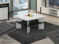 MORAVIA FLAT Konferenční stolek VECTRA 1, bílá/černý lesk