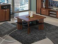 MORAVIA FLAT Konferenční stolek VECTRA 1, švestka wallis/černý lesk