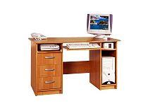 MORAVIA FLAT PC stůl se zásuvkami PRESIDENT, barva: