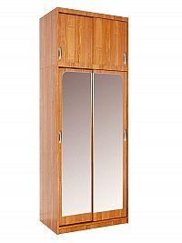 MORAVIA FLAT Šatní skříň IRENA se zrcadlem, barva: