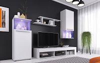 Obývací stěna PUNCH, bílá
