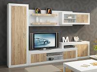 Obývací stěna VERIN 2, craft bílý/craft zlatý