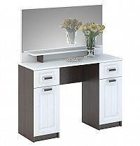 PRAGA CT-900 toaletní stolek se zrcadlem, wenge/bílá