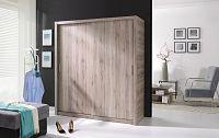 Šatní skříň 180 cm, dub san remo tmavý