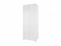Šatní skříň GORDIA SZ2D, bílá/bílý lesk