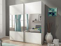 Skříň MIKA I se zrcadlem 150 cm, bílá
