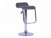 Smartshop Barová židle ILANA s otočným výškově nastavitelným sedadlem, hnědá ekokůže