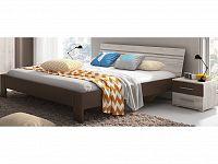 Smartshop BIANCA, postel 180x200 TYP 51, 2 noční stolky, dub san remo bílý/dub san remo bílý-lava