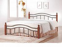 Smartshop CALABRIA, postel 180x200 s roštem, třešeň antická, kov/masiv