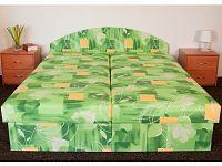 Smartshop Čalouněná postel ÁJA 160x195 cm, zelená látka