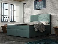Smartshop Čalouněná postel BAX 180x200 cm s matrací, světle tyrkysová látka