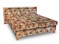 Smartshop Čalouněná postel IVA 120x200 cm, hnědá látka