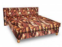 Smartshop Čalouněná postel IVA 140x200 cm, hnědožlutá látka