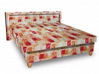 Smartshop Čalouněná postel IVA 140x200 cm, oranžová látka
