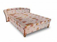 Smartshop Čalouněná postel PAVLA 140x200 cm, béžová látka
