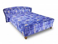 Smartshop Čalouněná postel PAVLA 160x195 cm, modrá látka