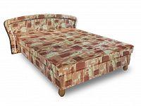Smartshop Čalouněná postel PAVLA 180x200 cm, hnědá látka