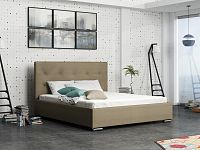 Smartshop Čalouněná postel SOFIE 1 140x200 cm, béžová látka