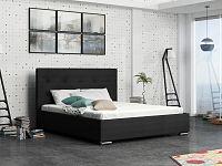 Smartshop Čalouněná postel SOFIE 1 180x200 cm s roštem a matrací, černá látka