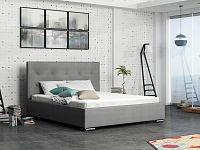 Smartshop Čalouněná postel SOFIE 1 180x200 cm, šedá látka