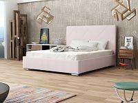 Smartshop Čalouněná postel SOFIE 5 140x200 cm s roštem, růžová látka