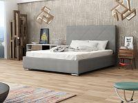 Smartshop Čalouněná postel SOFIE 5 180x200 cm s roštem, šedá látka