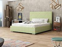 Smartshop Čalouněná postel SOFIE 5 180x200 cm s roštem, zelená látka