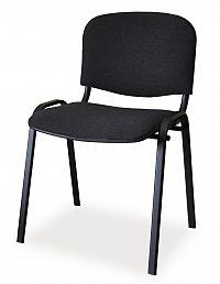 Smartshop Čalouněná židle ISO, černá/černá