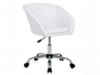 Smartshop Designové kancelářské křeslo LENER s výškov nastavitelným otočným sedadlem, bílá ekokůže/chromovaná
