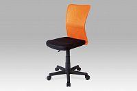 Smartshop Dětská židle BORIS černá / oranžová