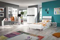 Smartshop Dětský pokoj RAJ 1, bílá/šedý lesk