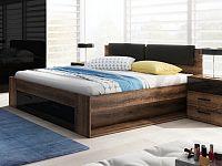 Smartshop GALAXY postel 160x200 cm TYP 51, dub monastery/černý lesk
