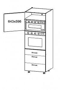 Smartshop HAMPER vysoká skříň DPS60/207 SMARTBOX, korpus šedá grenola, dvířka dub sanremo světlý
