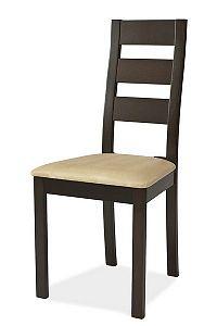 Smartshop Jídelní čalouněná židle CB-44, wenge/béžová