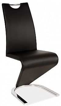 Smartshop Jídelní čalouněná židle H-090, černá/chrom