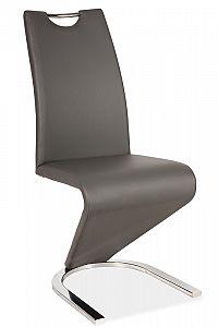Smartshop Jídelní čalouněná židle H-090, šedá/chrom