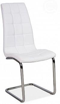 Smartshop Jídelní čalouněná židle H-103, bílá