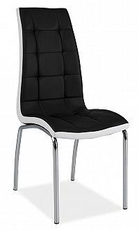 Smartshop Jídelní čalouněná židle H-104, černá/bílá